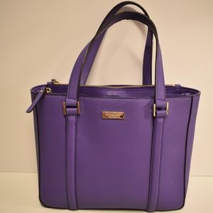 kate spade Purple Leather Satchel Tote